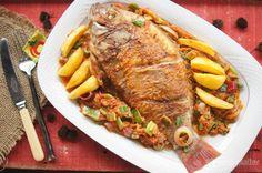 Red Snapper Fish in Spicy Black Velvet Tamarin Sauce