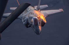 These Shots Of An F-35 Refueling At Dusk Over Edwards AFB Are Stunning