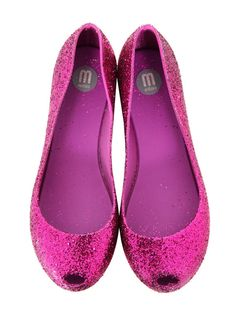 Melissa Ultragirl Fuschia Glitter Shoes