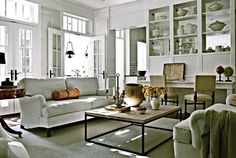 https://flic.kr/p/be46vP | Anne Favret &  Bill Gallagher / Darryl Carter / Max Kim-Bee / Country Living {eclectic rustic classic modern white living room}