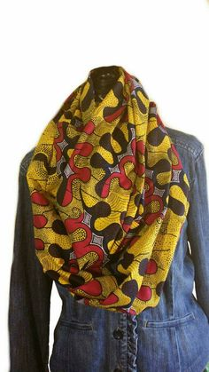 African Print Infinity Scarf by ImPrettyWaisted on Etsy