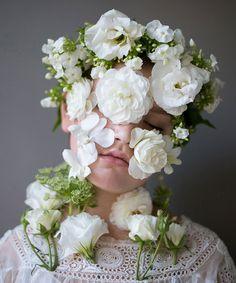 """""""flower face"""" portraits by Kristen Hatgi http://www.kristenhatgi.com Sasha, 2013"""