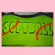 Softball with Laces Raglan Colorblock Fleece Crewneck by SmallTownHeat on Etsy