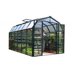 Rion Grand Gardener 2 Clear 8' x 12' Greenhouse