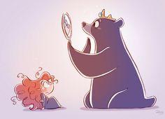 Chibis Merida and Mum Bear from Pixar's Brave by *princekido on deviantART