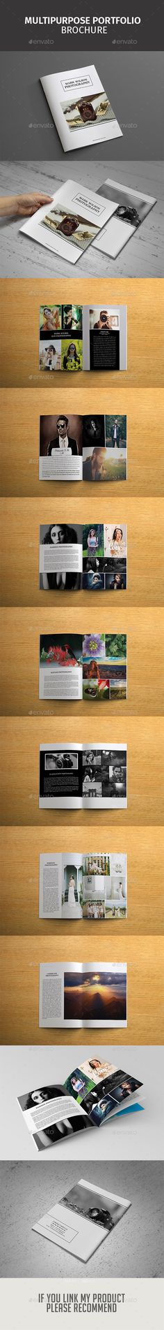 Clean Landscape Company Brochure Template, Company and Landscapes - hotel brochure template