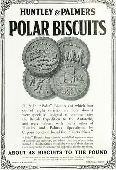 Huntley and Palmers Polar Biscuits, 1912. Commemorating the British Expedition to the Antarctic