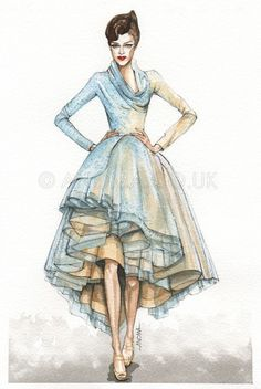 fashion drawing Dior 2011 Spring Haute Couture colection