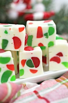 Christmas Gumdrop Nougat Add a sweeter twist to your Christmas cookie tray this year. Make a batch of this delicious Christmas Gumdrop Nougat to share with friends and family during the holidays. This easy candy recipe is a real treat. Candy Cookies, Holiday Cookies, Holiday Baking, Christmas Desserts, Holiday Treats, Easy Christmas Candy Recipes, Christmas Fudge, Holiday Candy, Ginger Cookies