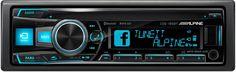 Autoradio Bluetooth Alpine CDE-185BT combine les fonctionnalités: Alpine TuneIt App téléphone iPhone et Android, réglage du son et partage, alertes Facebook