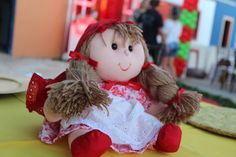 Centro de Mesa  Chapeuzinho Vermelho. Boneca Chapeuzinho Vermelho.