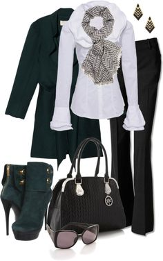 A fashion look from November 2012 featuring Diego Reiga blouses, Vanessa Bruno coats and Theory pants. Browse and shop related looks. Fall Outfits, Casual Outfits, Cute Outfits, Fashion Outfits, Womens Fashion, Work Outfits, Business Dress, Estilo Fashion, Work Fashion