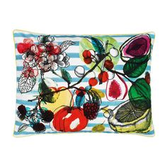 Discover the Christian Lacroix Manaos Cushion 60x45cm - Turquoise at Amara