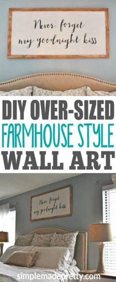 I love farmhouse style decor but many of the items I found online or at Home Goods was too expensive! I tried this DIY over-sized wall art tutorial and made some wall decor for my apartment really cheap! Everyone always asks where I got them! I'm not crafty at all and if I can make these, anyone can!