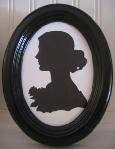 Victorian charm of silhouette.  I especially like that these are cut by hand rather than using a computer.