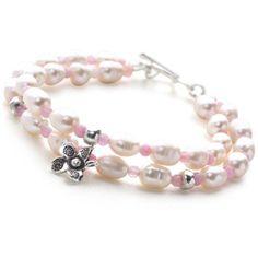 Pink Island Bracelet - silver bracelets - Silver by Mail Website