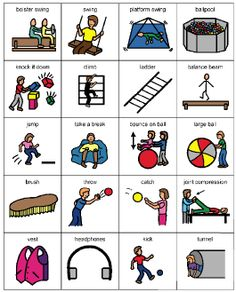 Living Well With Autism - occupational therapy and sensory integration picture cards Mais Sensory Activities For Autism, Autism Resources, Motor Activities, Sensory Diet, Sensory Issues, Sensory Motor, Pecs Pictures, Sensory Therapy, Special Education