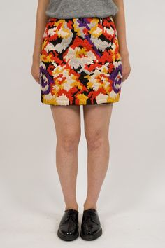 YMC Marble Hand Embroidered Mini Skirt    http://ideologyboutique.co.uk/ymc-multi-embroidered-mini-skirt.html