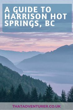 Your full guide to a weekend in Harrison Hot Springs from Vancouver, BC in Canada. This includes what to do in Harrison Hot Springs (including the spa) and other places to check out along the way! Alberta Canada, Ontario, Canada Vancouver, Travel Usa, Columbia Travel, British Columbia, Visit Canada, Canada Eh, Canada Destinations