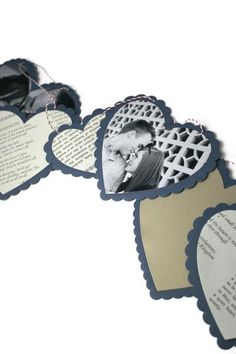 Make a Valentine Garland using the Nesting Heart die and Nesting Heart Scallops die by Lifestyle Crafts.