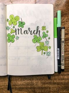 March (add celtic not in dead space). march (add celtic not in dead space) bullet journal month cover Bullet Journal Month Cover, Planner Bullet Journal, Bullet Journal Notebook, Bullet Journal Aesthetic, Bullet Journal School, Bullet Journal Layout, Bullet Journal Inspiration, Journal Ideas, Filofax