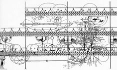 """takiszenetos: """" """"The last phase of the evolutionary process that gradually 'lifts up' a city, is its swinging over the nature"""". Kalafati Eleni, Papalexopoulos Dimitris, Τάκης Χ. Yona Friedman, Cities, Earth Surface, Smart City, Late 20th Century, Space Architecture, Rural Area, Urban Planning, Modern Buildings"""