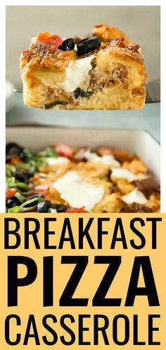 This casserole is loaded with sausage, pepperoni, veggies and three types of cheese!It's a guaranteed crowd-pleaser that is simple to prepare and can be made in advance! #easy #sauage #egg #breakfast #casserole #recipe Breakfast Pizza, Savory Breakfast, Best Breakfast, Breakfast Casserole, Breakfast Recipes, Breakfast Cookies, Sausage Egg Casserole, Vegetable Casserole, Sausage And Egg