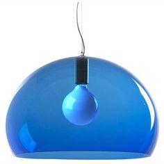 FL/Y loftlampe, petroleum blå från Kartell - Køb møbler online på ROOM21.dk