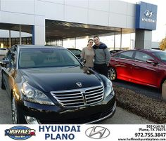 Thank you to Marcie Friedman on your new 2014 #Hyundai #Equus from Mike  Richards and everyone at Huffines Hyundai Plano! #NewCarSmell