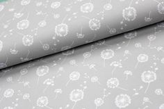 Stoff Blumen - French Terry Druck Pusteblumen grau - 0,5m - ein Designerstück von Brittschens bei DaWanda