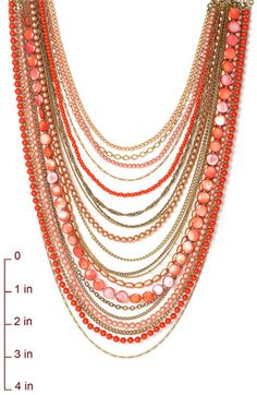 Sequin Beaded Long Multistrand Necklace | Nordstrom