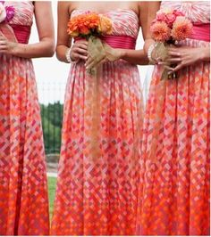 SO COOL hilton-head-lowcountry-wedding-strapless-maxi-bridesmaids-dresses Patterned Bridesmaid Dresses, Maxi Bridesmaid Dresses, Wedding Bridesmaids, Wedding Dresses, Maxi Dresses, Patterned Dress, Spring Wedding, Dream Wedding, Wedding Day