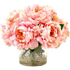 Let these lovely faux peonies add a touch of color to a crisp, all-white kitchen or set them in your powder room for an inviting ambiance.  ...
