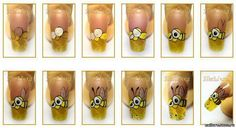 Bee nails tutorial
