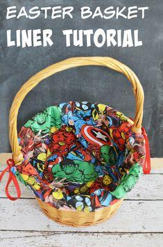 DIY Marvel Easter Basket Liner Tutorial #craft #Easter #Marvel