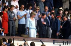 Coco and David with Diana and Charles at Live Aid July 1985.