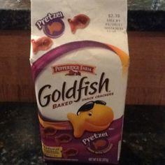 Pretzel Goldfish crackers. My kid can eat these as there are no added colors, etc. Not organic but not terrible.