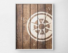 Nautical Compass Compass Print Nautical by LotusLeafCreations
