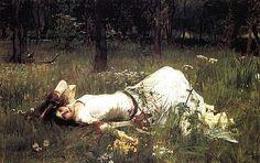 John William Waterhouse - Ofelia, 1889