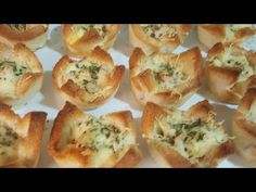 Cestas de pan de molde para entrantes - YouTube Tapas, Muffin, Brunch, Appetizers, Bread, Make It Yourself, Breakfast, Kitchen, Youtube