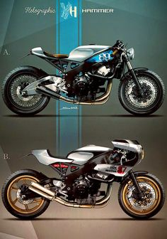 Cafè Racer Concepts - Honda CBR 900 1999 Cafè Racer by Holographic Hammer