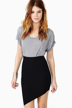 Slant Symmetry Skirt in Clothes at Nasty Gal