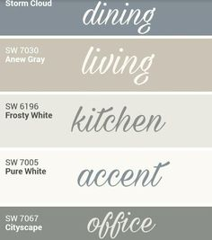 Sherwin Williams whole home palette. by cara Sherwin Williams whole home palette. by cara Farmhouse Paint Colors, Kitchen Paint Colors, Bedroom Paint Colors, Paint Colors For Living Room, Farmhouse Wall Decor, Paint Colors For Home, Country Farmhouse, Paint For Kitchen, Room Kitchen