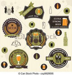 etiqueta cerveza vector - Buscar con Google