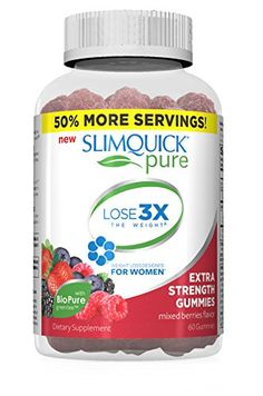 6f97f7b10 SLIMQUICK Pure Mixed Berry Gummies Weight Loss Supplement