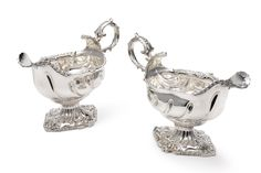 A pair of George III silver sauce boats, John Henry Vere & William Lutwyche, London, 1766