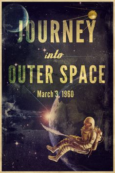 Vintage Space Posters | Retro Space Poster by iLIM3