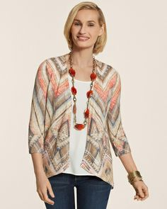 Tribal Chevron Lacey Cardigan from Chico's on Catalog Spree, my personal digital mall.
