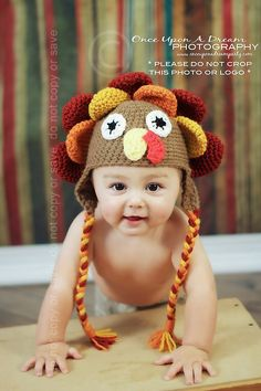 Lil' Turkey hat for my Turkey baby.  Too cute!