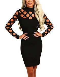 5908d0232848 We re so crushin  on this gorge new season lattice sleeve mini dress! This  beaut little black dress is the perfect number to take you into AW!